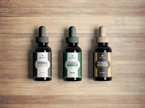 CBD oil label template