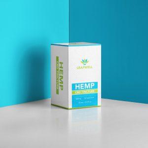 LeafWell CBD oil box