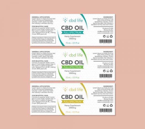 CBD Life label design