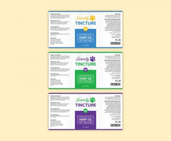 Pet Hemp Oil label