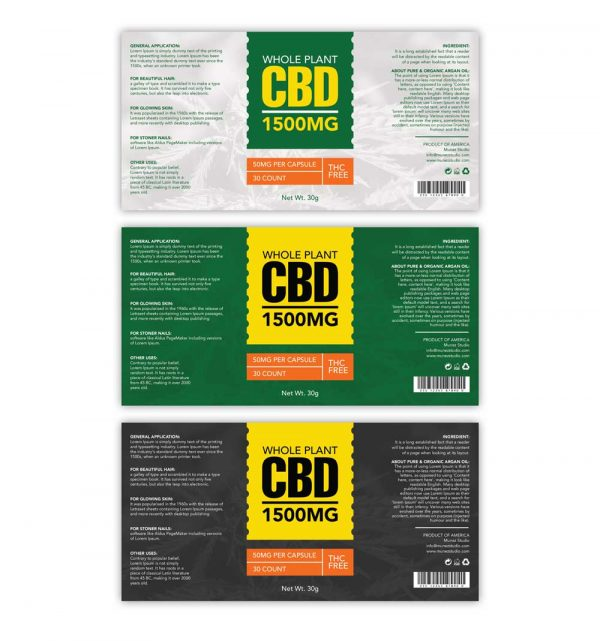Whole plant CBD label