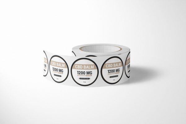 CBD balm label design