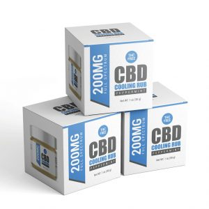Cooling rub packaging template