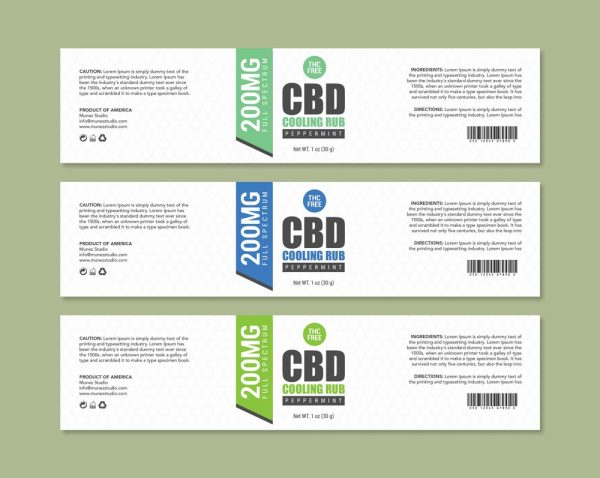 Cooling rub label template