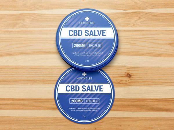 CBD salve sticker template