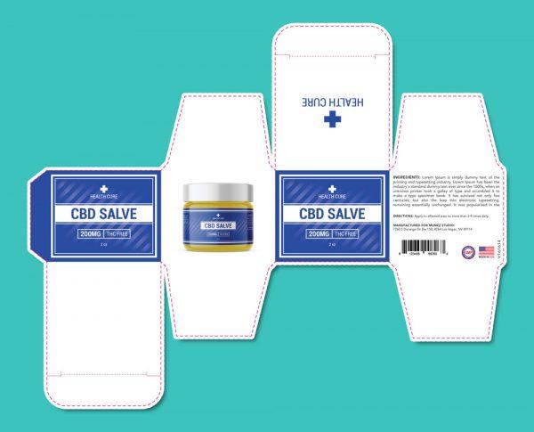 CBD salve packaging template