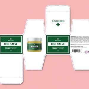 CBD salve packaging template