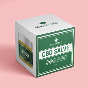 CBD salve box template