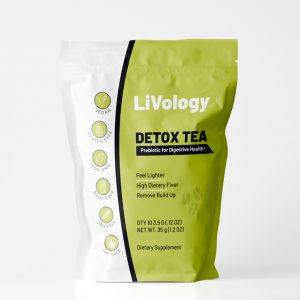 LIVology Detox Tea Pouch Template Design