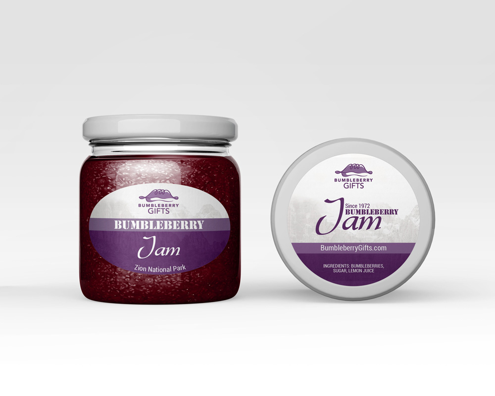 bumbleberry jam label design