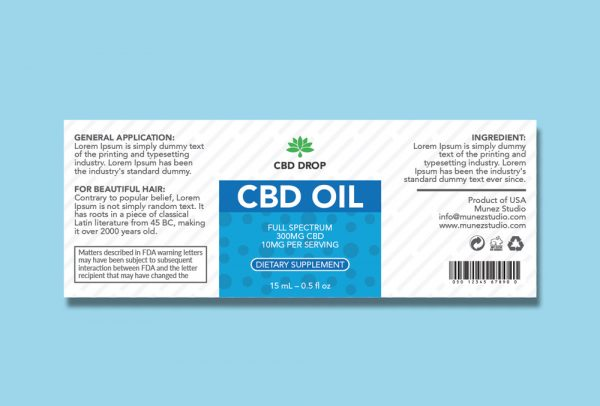 CBD oil design CBDdrop