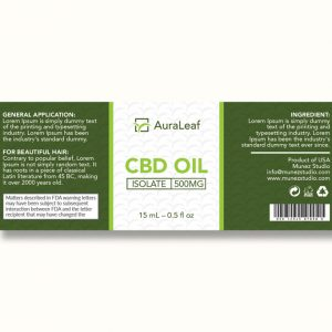 CBD oil design AuraLeaf