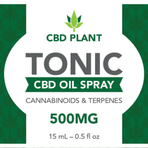 CBD oil label template