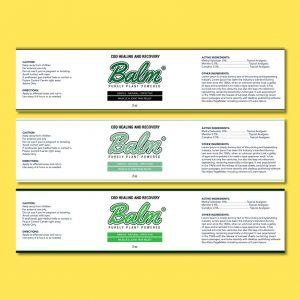 CBD Pain Relief Label
