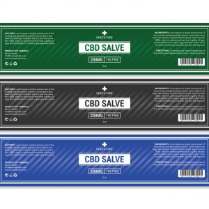 CBD salve label template
