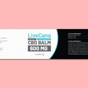 CBD Balm Label Template