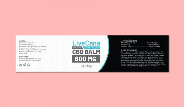 CBD Balm Label Template