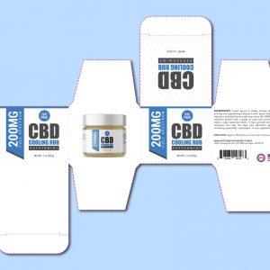 Cooling rub box template